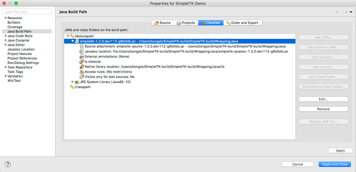 Setting Up Eclipse and Visual Studio — SimpleITK 1 2 0 dev